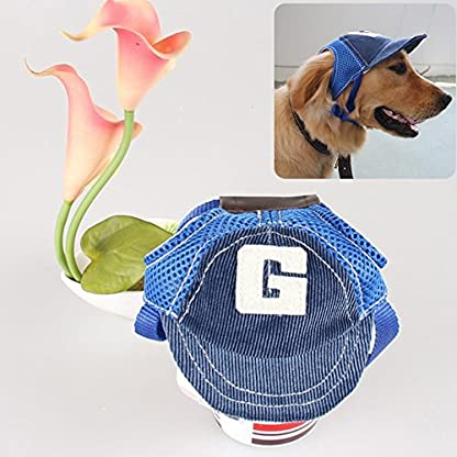 BEAUTOP Dog Baseball Sport Cap Hat - Outdoor Hat Sun Protection Cap for Small Medium Large Dog (Optional Size,Color) 4