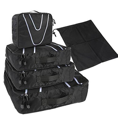 HOMFA Organizador de Maletas 4-en-1 Set de Organizador de Equipaje Impermeable bolsa viaje Nylon