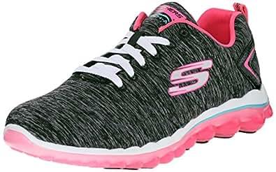 Skechers Women's Skech-Air 2.0-Sweet Life Black/Hot Pink Sneakers-3 UK/India (36 EU)(6 US)(12109)