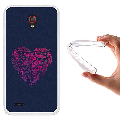 Alcatel OneTouch Go Play Hülle, WoowCase Handyhülle Silikon für [ Alcatel OneTouch Go Play ] Herzen aus Federn Handytasche Handy Cover Case Schutzhülle Flexible TPU - Transparent