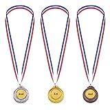 Gold Silber Bronze Olympische Stil Medaille Sieger Medaillen Gold Silber Bronze Auszeichnungen