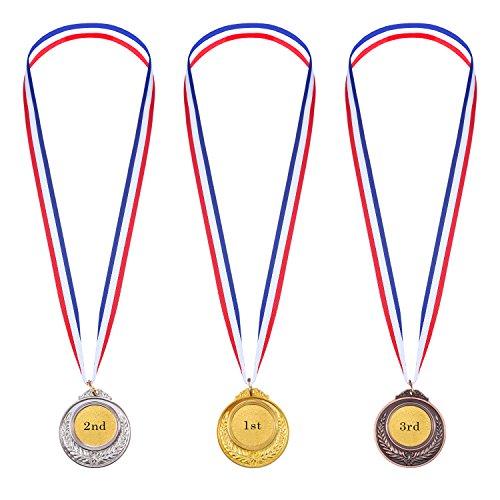 Medallas de Ganador de Metal en Estilo Olímpico de Color Oro Plata...