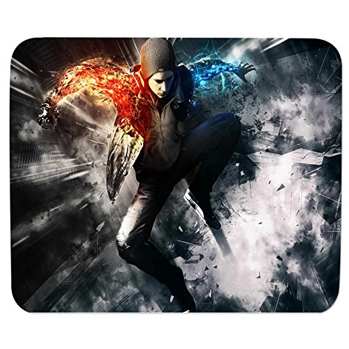 Mouse Pads for PC, Laptop Infamous Second Son print for gaming pc at cheap price - S.No : 0362  available at amazon for Rs.196