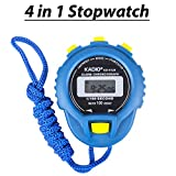 #2: Digital Stopwatch Timer with Extra Large Display and Buttons, Water Resistant, Blue