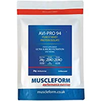 Muscleform Avi-Pro 94 Pure Whey Protein Isolate 94% 2kg Re-Sealable Pouch - Fast Delivery - Natural