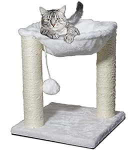 Cat hammock scratcher activity center scratching post lounger 41cm x 41cm x 51cm - Cat hammock scratcher ...