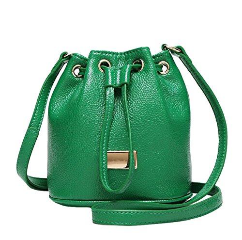 Mini Eimer Tasche Handtasche Umhängetasche Messenger Tasche Wilde Einfache Und Elegante Atmosphäre Green