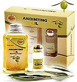 #8: Anointing Oil Christian Prayer Gifts - Best Combo Anoint Oil 100 ML & Perfume 8 ML Kit From Israel - Vegan Premium Holy Land Olive, Frankincense, Myrrh & Spikenard Oils Blend Anointing Present Set
