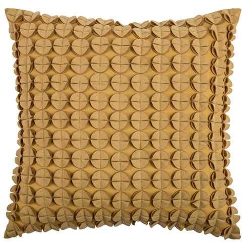 Rizzy Home t0828550,8x 50,8cm Kissen mit verstecktem Reißverschluss und Polyester, Butter Gelb (Genähte Akzente)