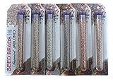 #2: Beadsnfashion Imported Jablonex Seed Beads Metallic Golden & Silver DIY 6 Tube Combo, Size 11/0, 1250 Beads/Tube