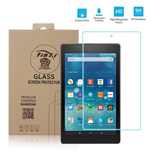 Tinxi® Tempered Glass Hartglas Schutzfolie für Amazon Fire HD 8 8 Zoll Premium Screen Protector Panzerfolie Ultra Hart Displayschutz