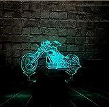 zwylove Cool Acrilico 3D LED Luce notturna Motocicletta Auto Umore Lava Decor 7 Cambio colore Prodotti per bambini Camera da letto Boyt