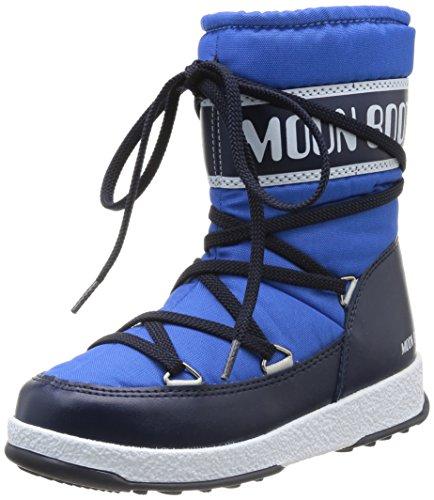 Moon Boot W.E. Sport Mid Jr, Stivaletti, Unisex - bambino, Blu (Azzurro/Blue Navy), 30