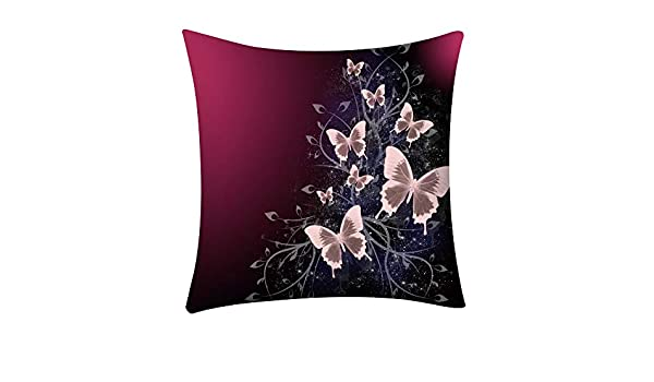 rainbol Throw Pillow Cover Flower Girly