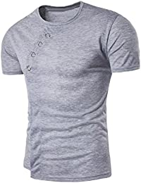 Camiseta para hombre OverDose verano sólido camiseta manga corta