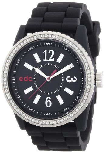 edc by Esprit - Reloj analógico para mujer de plástico negro