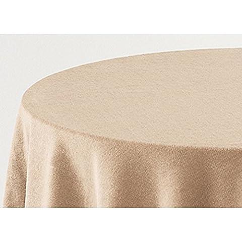 Falda para Mesa Camilla Modelo DELUXE 793, Color BEIGE 701, Medida Redonda 80/223cm Ø (También Disponible en distintos Colores, Formas y Medidas)