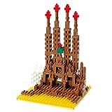 Nanoblock 58513718 - Sagrada Familia, 3D-Puzzle von Kawada, Sights to See, Schwierigkeitsstufe 4, sehr schwer, 520 Teile