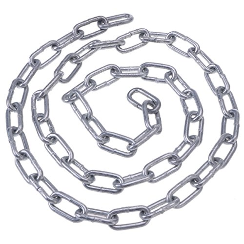 Hemobllo Kette für Verbindungsstück aus verzinkter Spule, 1 m Durchmesser, 4 mm - Eisenkette Kette