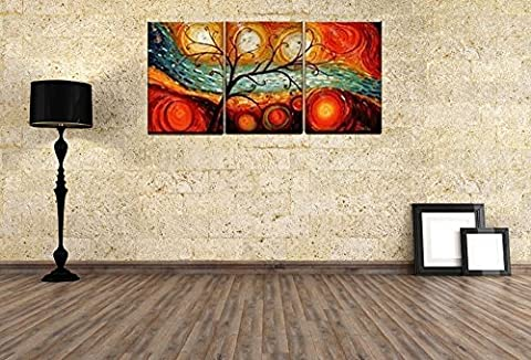 Mon Kunst Colorful Tree Modern Abstract 100% Hand Painted Oil Painting on Canvas Wall Art Deco Home Decoration(UnStretched and UnFramed) by Mon Kunst