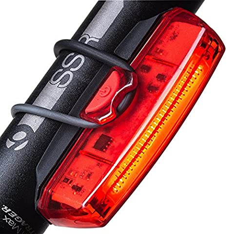 Bike Tail Light, FisherMo Super Bright Bicycle LED Rear Warning Lights, IPX4 Water Resistant USB Rechargeable Clip for Sport Outdoor All