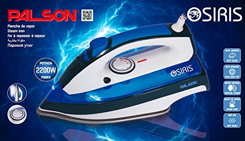 51zHosRXm2L - PALSON Powerful Steam Iron 2200W with Steam Blast, Auto Shut Off, Anti Drip, Anti Scale, Self Cleaning - Free 2 Year…