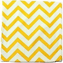 Bluelover Vintage Zig Zag impreso almohada cojín del hogar decoración del caso - amarillo