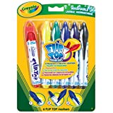 Crayola Flip Top Markers 6's Hang Pack & Inspirational Magnet