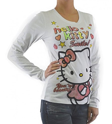 HelloKittyWear -  T-shirt - Donna bianco Small