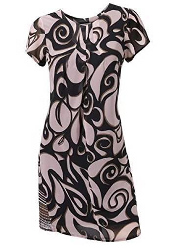 Kleid Sommerkleid von Travel Couture in Schwarz/Rose - Gr. 38 (Couture Kleid)