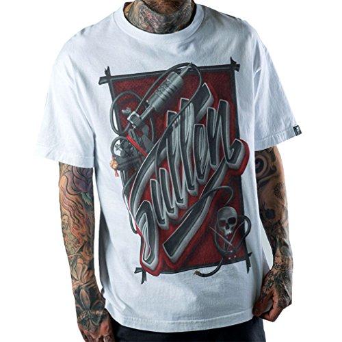 sullen-clothing-herren-t-shirt-tattoo-machine-rca-weiss-m