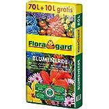 Floragard Blumenerde 70 L + 10 L gratis, 80 L, Universalerde f. Balkon-, Kübel- und Zimmerpflanzen