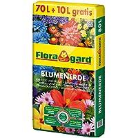 Floragard Blumenerde 70 L + 10 L gratis • Universalerde • für  Balkon-, Kübel- und Zimmerpflanzen • mit dem Naturdünger Guano • 80 L