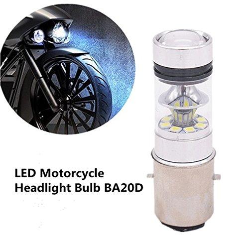 FEZZ 1500LM Bombilla LED de Faro Motocicletas Luz Delantera Hi Lo Beam, BA20D H6, 100W Blanco para Yamaha Suzuki Kawasaki