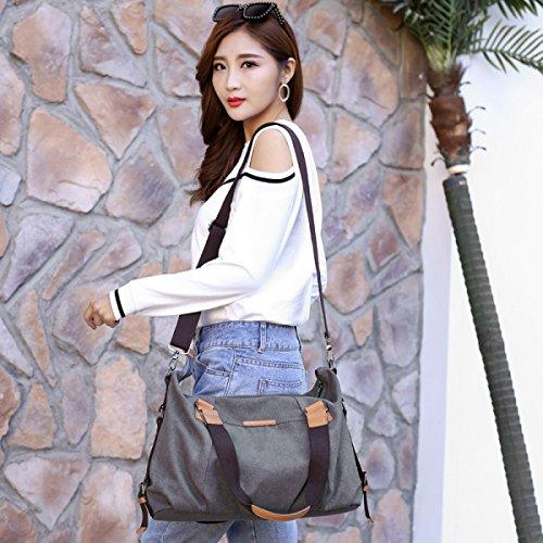 DFUCF Tasche Strandtasche Shopping Arbeit Lagerung Große Kapazität Umhängetasche Umhängetasche Reisetasche Gray
