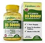 Epsilon Vitamin D3 5,000 IU - 1 Year...