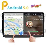 """Android 9.0 stéréo de Voiture Double 2 DIN 9"""" écran Tactile capacitif Système de Navigation GPS pour VW Volksvagen Golf Passat Tiguan Polo Jetta Skoda Seat Quad Core 2G RAM Dab..."""