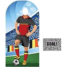 BundleZ-4-FanZ by Starstills Fan Pack - World Cup Football 2018 Belgium Stand-In Lifesize Adult Cardboard Cutout with 20cm x 25cm Star Photo