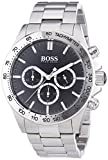 Hugo Boss Ikon Men's Quartz Black Chronograph Grey Stainless Steel Bracelet 1512965