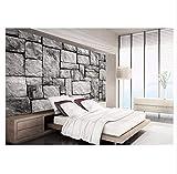 Cczxfcc Neues Kundenspezifisches Nichtgewebtes Wandbild Einstellungswand Graue Steinbacksteinmauer 3D Wandbildwanddekoration-250Cmx175Cm
