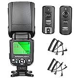 Neewer® nw-561schermo LCD flash Speedlite kit per Canon Nikon e altre fotocamere DSLR, include: (1) nw-561flash + (1) GHz wireless Trigger (1* trasmettitore + 1* ricevitore)