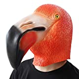 PartyHop Halloween Kostüm Party Tier Latex Vollkopf Maske Vogel Flamingo