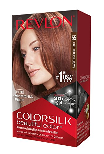 revlon colorsilk coloration des cheveux n55 light reddish brown 591 ml - Coloration Revlon