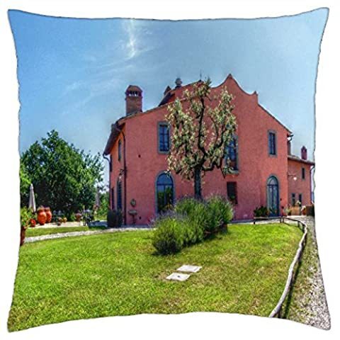 Tuscany farm in summer - Throw Pillow Cover Case (18