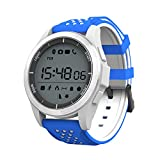 TYWZF Fitness Tracker Smart Trackers Bluetooth IP68 Professionelle Wasserdichte Schwimmen Höhe UV Test Schrittzähler Für Ios Android Phone,Blue