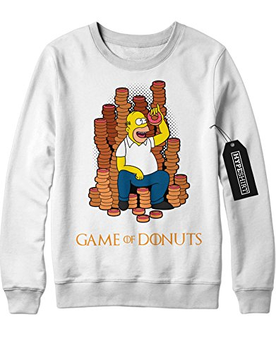Sweatshirt Game of Simpsons GOT Mashup C999968 Weiß XL