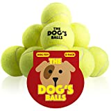 The Dog's Balls 12 Dog Tennis Balls, Premium Strong Dog Ball Dog Toy for Dog Training, Dog Play, Dog Exercise and Fetch. Tough Dog Balls for Chuckit Launchers. Bouncy Tennis Ball for Puppy too