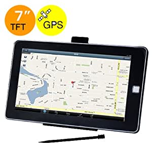 Center One 7?800x480 Resolution Car GPS Navigation with BT AV/MP3/Video/Game/E-book/FM-Black