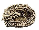 Aschenbecher Skelett-Drache,eingeroll