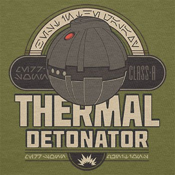 NERDO - Thermal Detonator - Herren T-Shirt Oliv